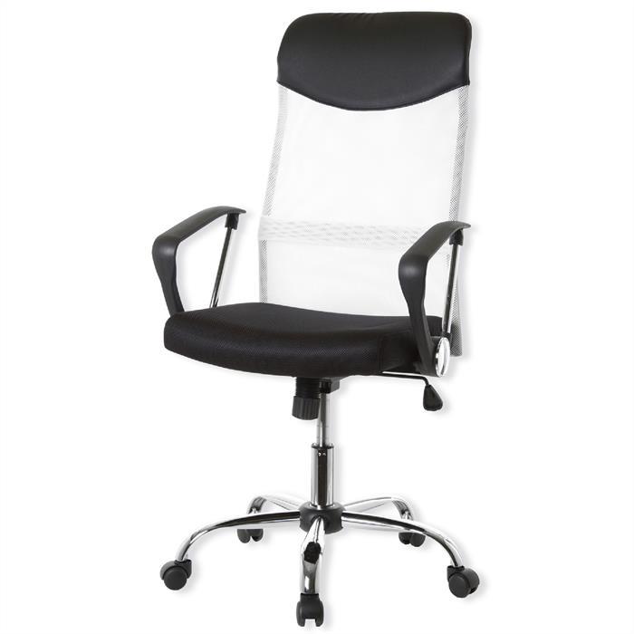Bürodrehstuhl in weiß-schwarz