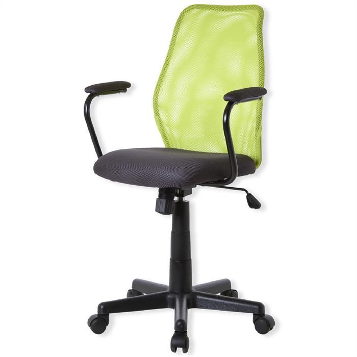Bürodrehstuhl mit Armlehnen, in grün