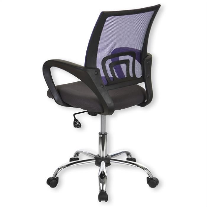 Bürodrehstuhl, höhenverstellbar, lila