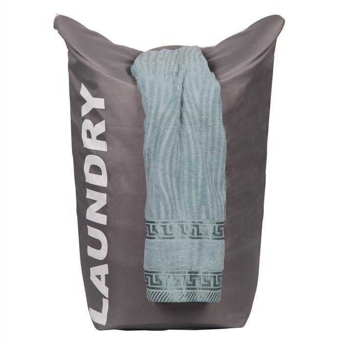 Wäschesammler mit Tragegriffen in grau