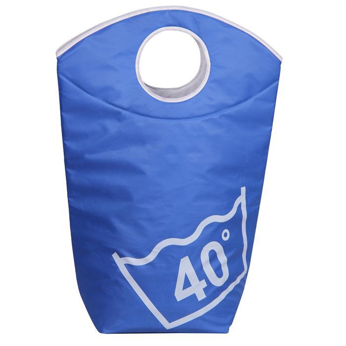 Wäschesammler mit Tragegriffen in hellblau