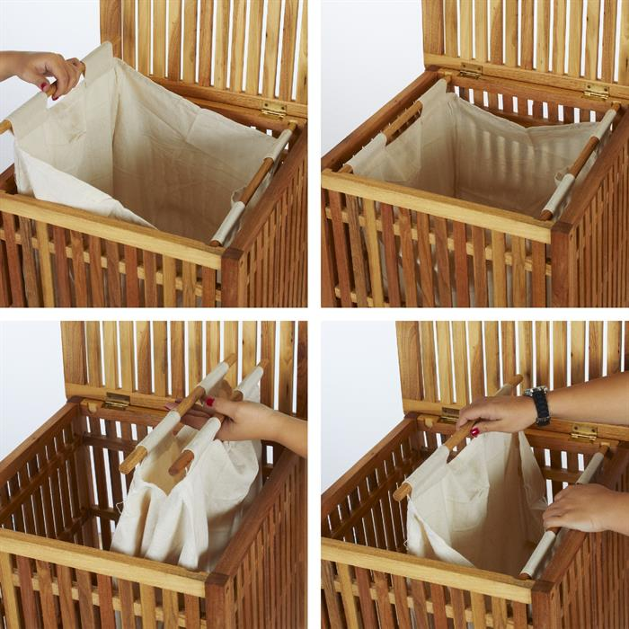 Wäschekorb UWE aus Walnussholz, geölt
