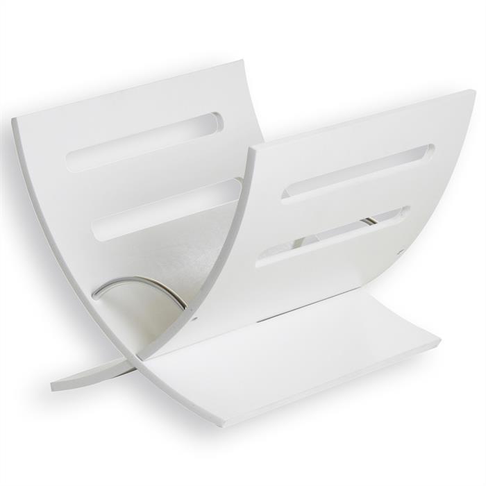 Zeitungsständer in weiß lackiert
