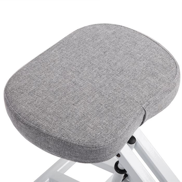 Kniestuhl in weiß/grau