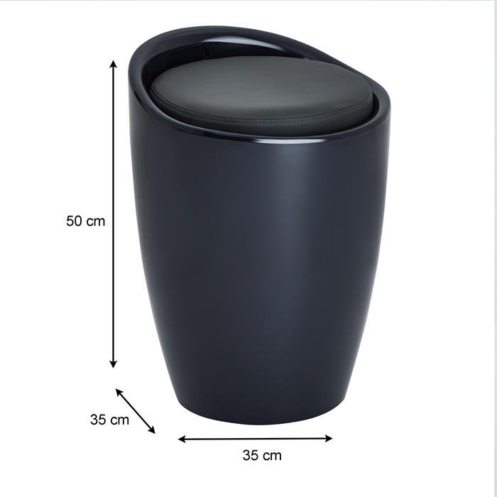 Sitzhocker mit Stauraum in grau