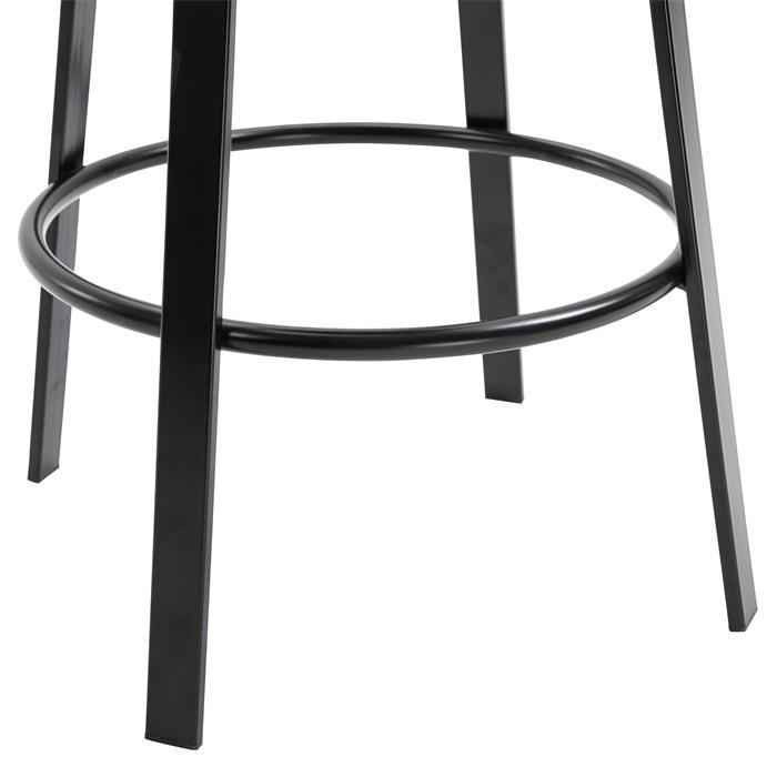 Barhocker im Industrial-Stil in schwarz 2er Set