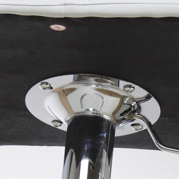 Tresenhocker in weiß, höhenverstellbar