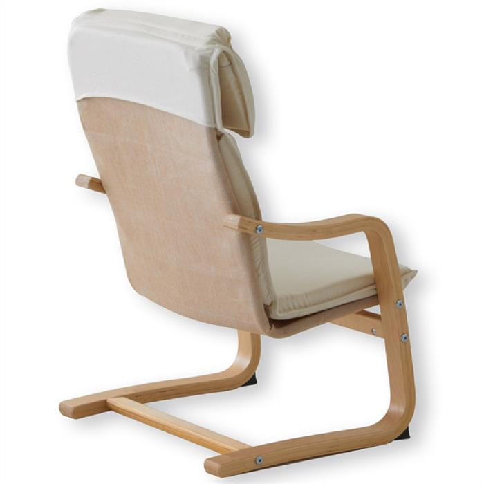 Kinder Relaxsessel in natur lackiert, beige
