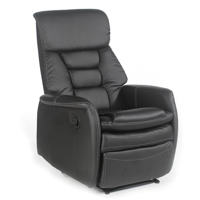 Relaxsessel in schwarz mit Liegefunktion