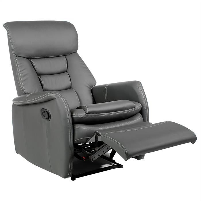 Relaxsessel in grau mit Liegefunktion