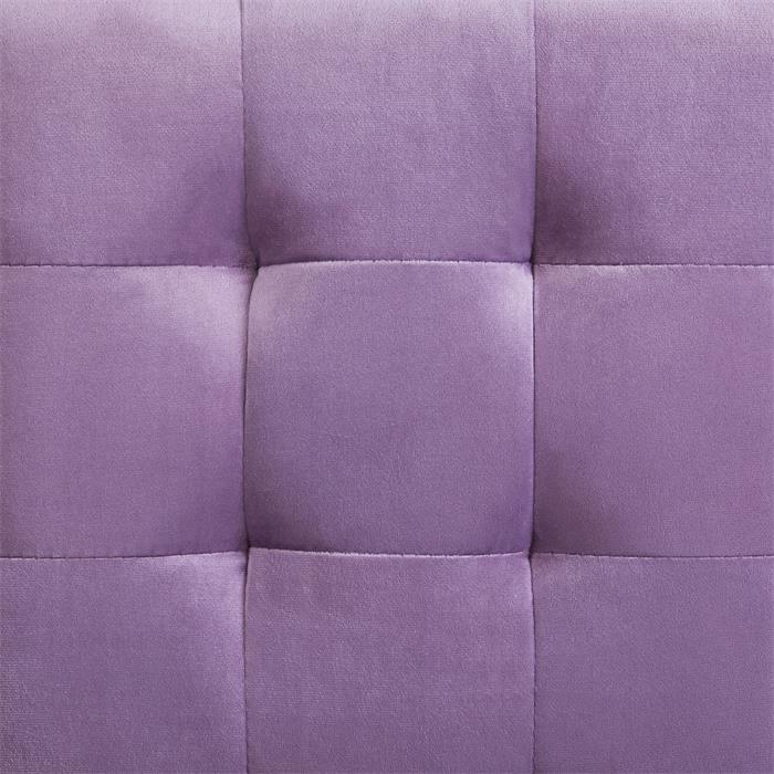 Würfelhocker aus Samt Stoff in lila