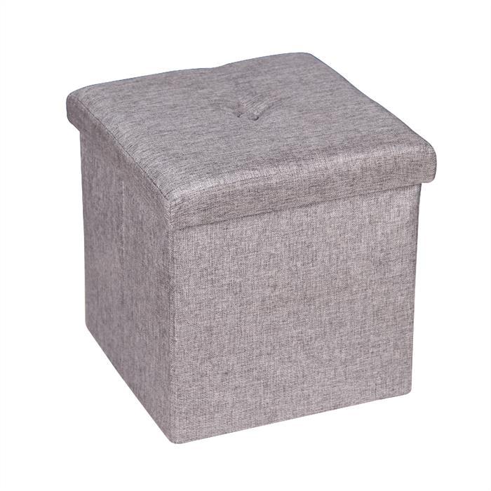 Sitzwürfel CARA in grau, faltbar