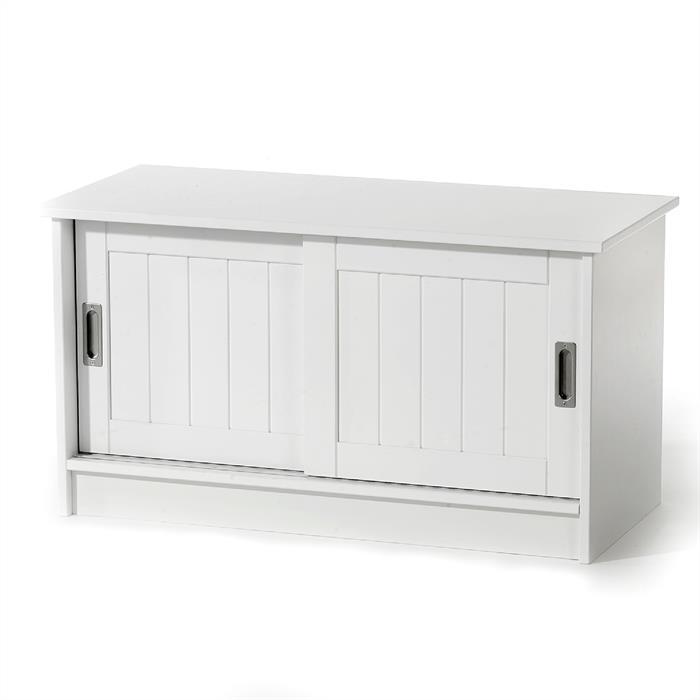 Sitzbank HORST aus MDF in weiß lackiert