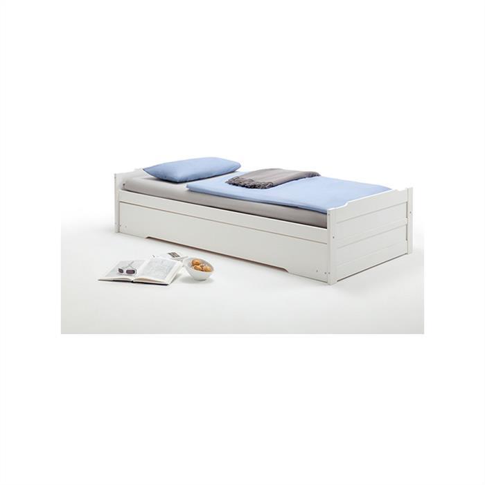 Funktionsbett in weiß, 90 x 190 cm