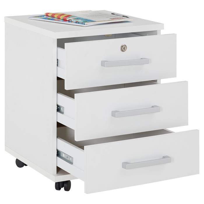 Rollcontainer VANCOUVER in weiß mit 3 Schubladen