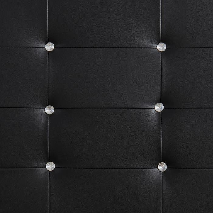 Polsterbett NEWCASTLE 120 x 200 cm, inkl. Lattenrost in schwarz