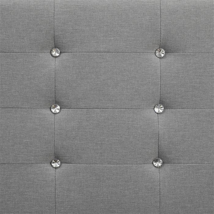 Polsterbett OKLAHOMA 120x200 cm, inkl. Lattenrost in grau