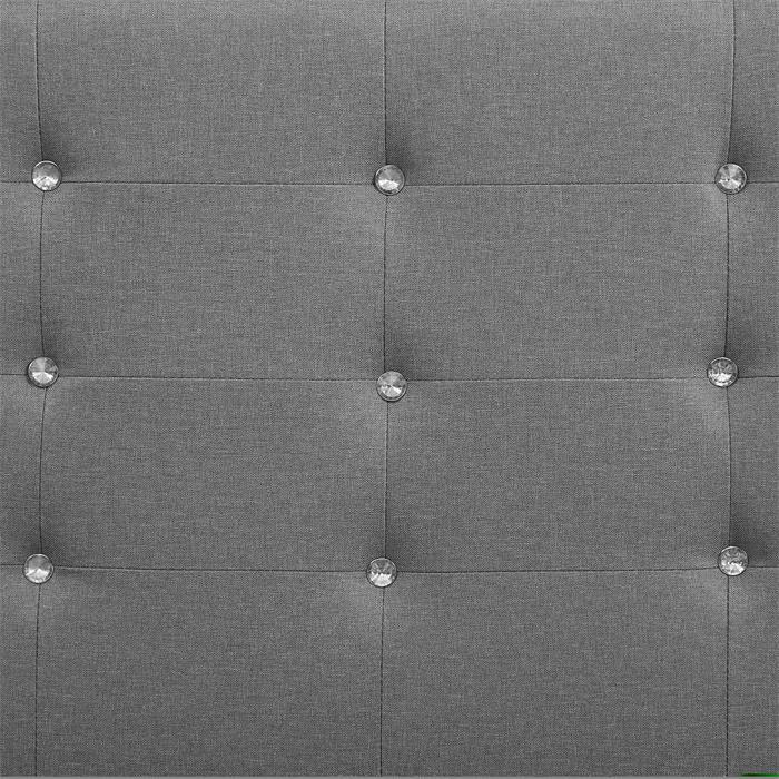Polsterbett DELAWARE 90x200 cm, inkl. Lattenrost in grau