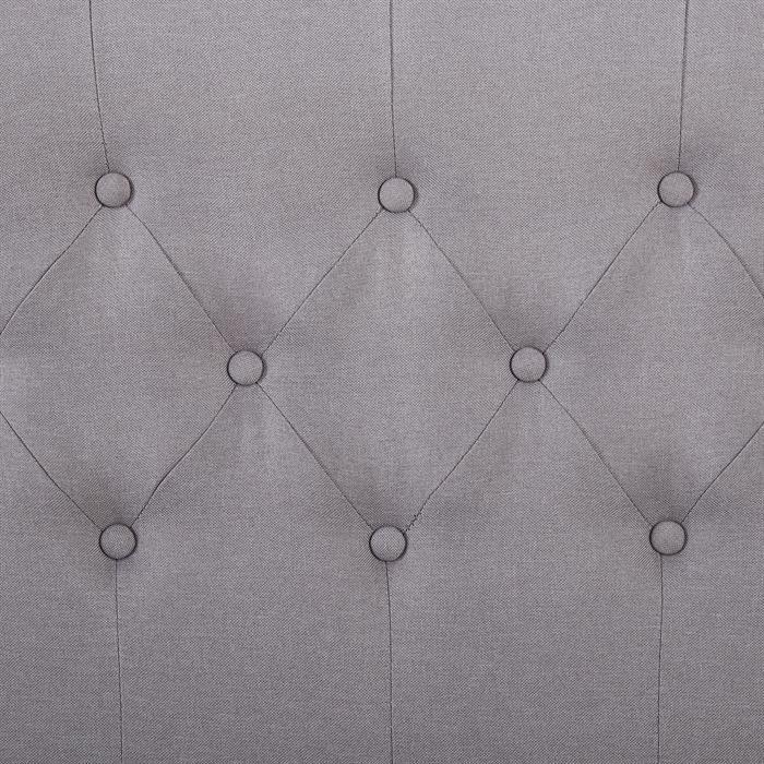 Polsterbett BIARRITZ 90 x 200 cm, in grau