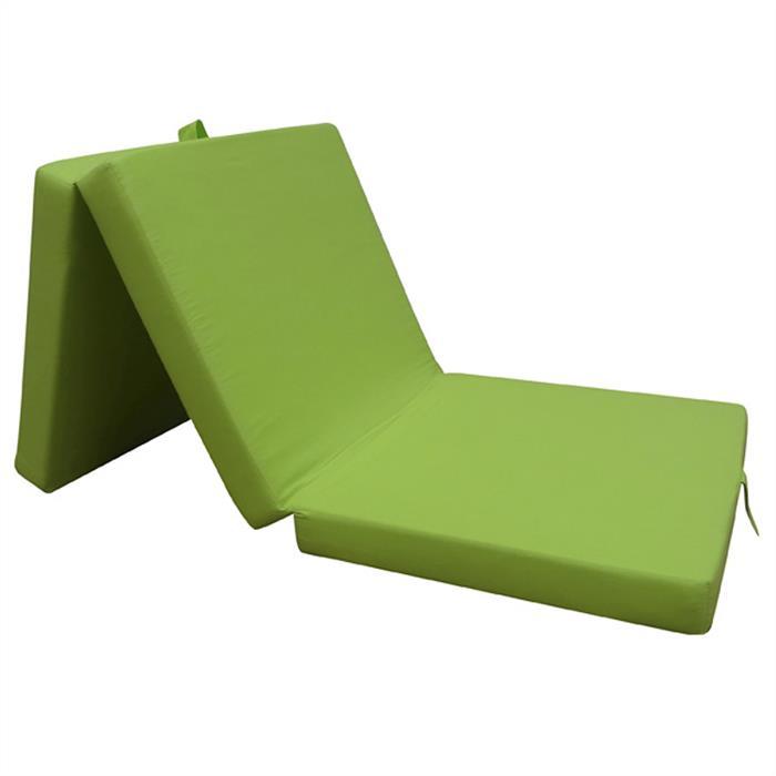Faltmatratze in grün, 63 x 190