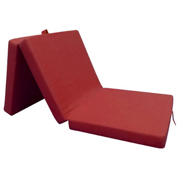 Faltmatratze in rot, 63 x 190