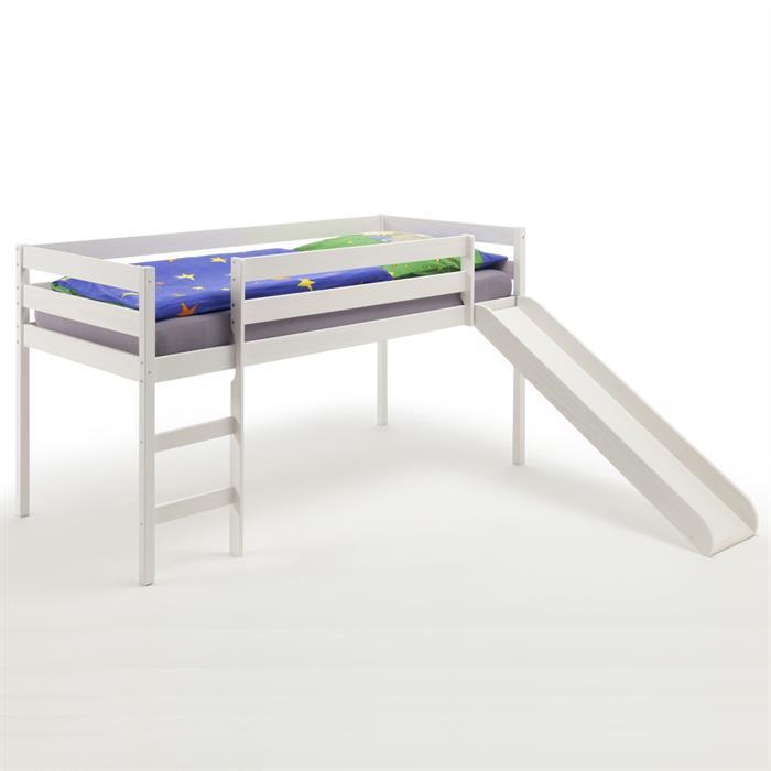 Rutschbett in weiß lackiert, 90 x 200 cm