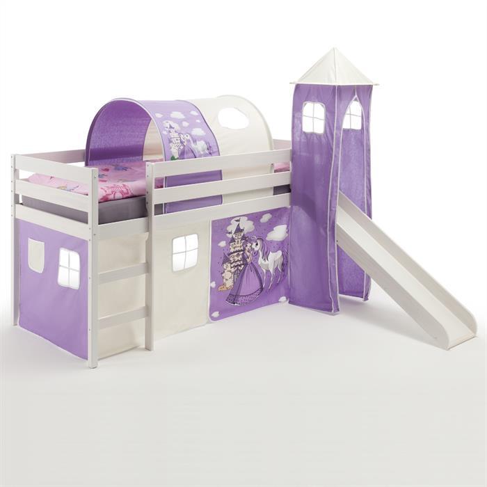 rutschbett mit tunnel turm und vorhang caro m bel. Black Bedroom Furniture Sets. Home Design Ideas