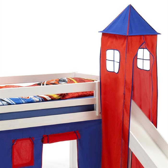 Turm für Spielbett in blau/rot