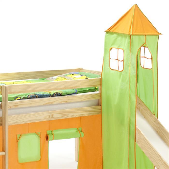 Turm für Spielbett in grün/orange