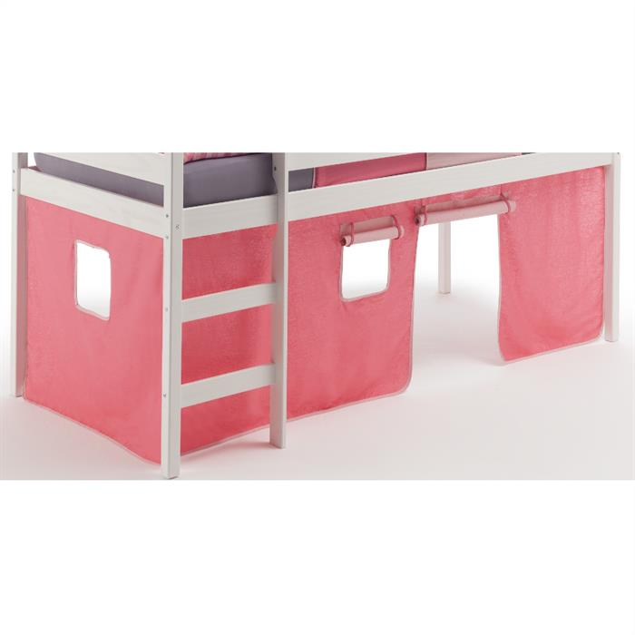 bettvorhang f rs hochbett pink rosa caro m bel. Black Bedroom Furniture Sets. Home Design Ideas