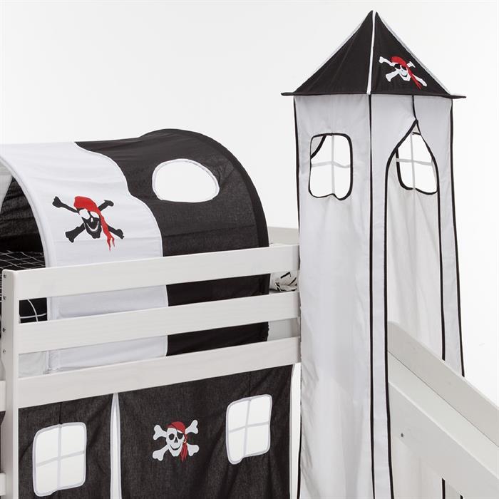 Turm für Spielbett in schwarz-weiß