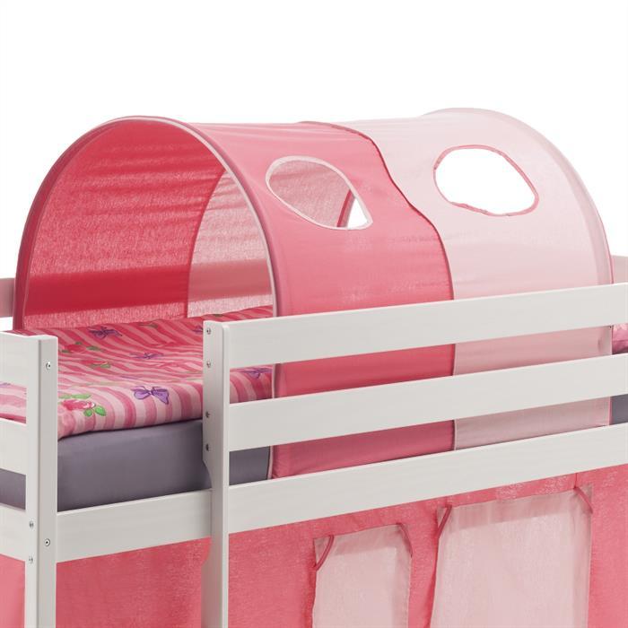 Tunnel für Hochbett in pink-rosa