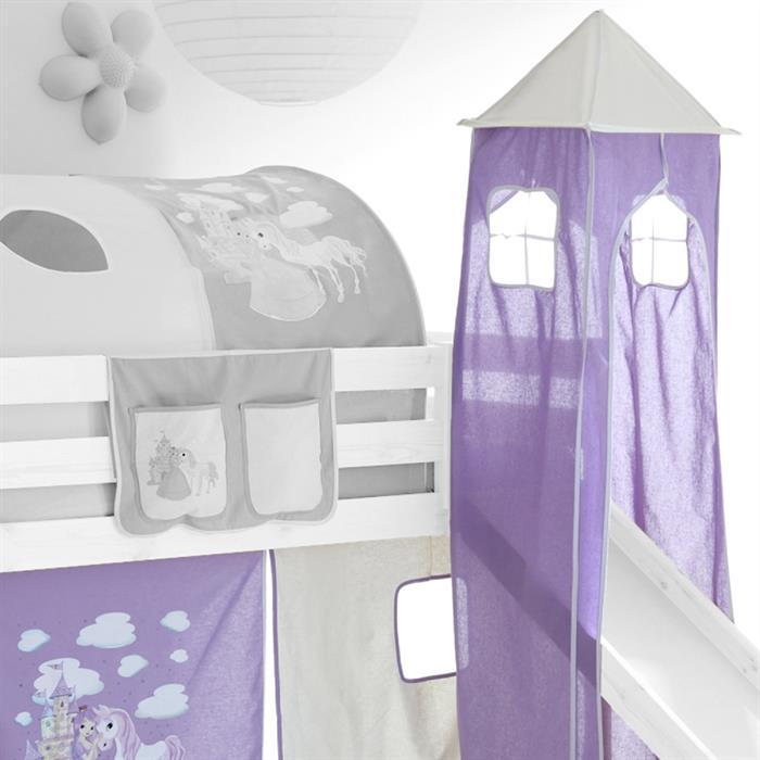 Turm für Rutschbetten lila-weiß
