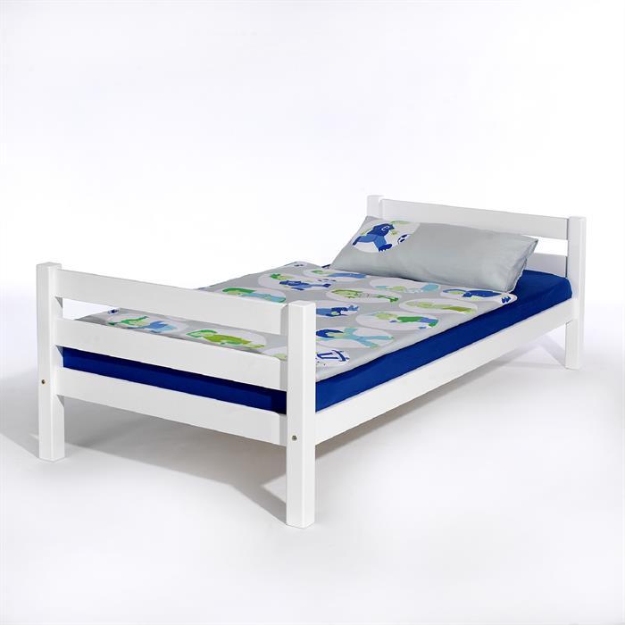 Einzelbett, 90 x 200 cm in weiß lackiert