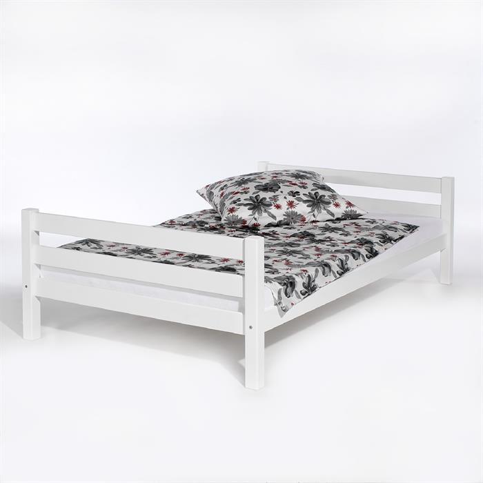 Einzelbett, 120 x 200 cm in weiß lackiert