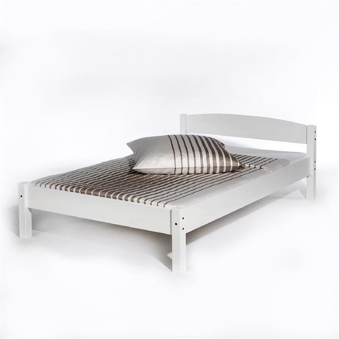 Doppelbett NILS, 120 x 200 cm Buche weiß