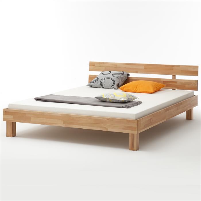 Doppelbett in Buche massiv, 140 x 200 cm