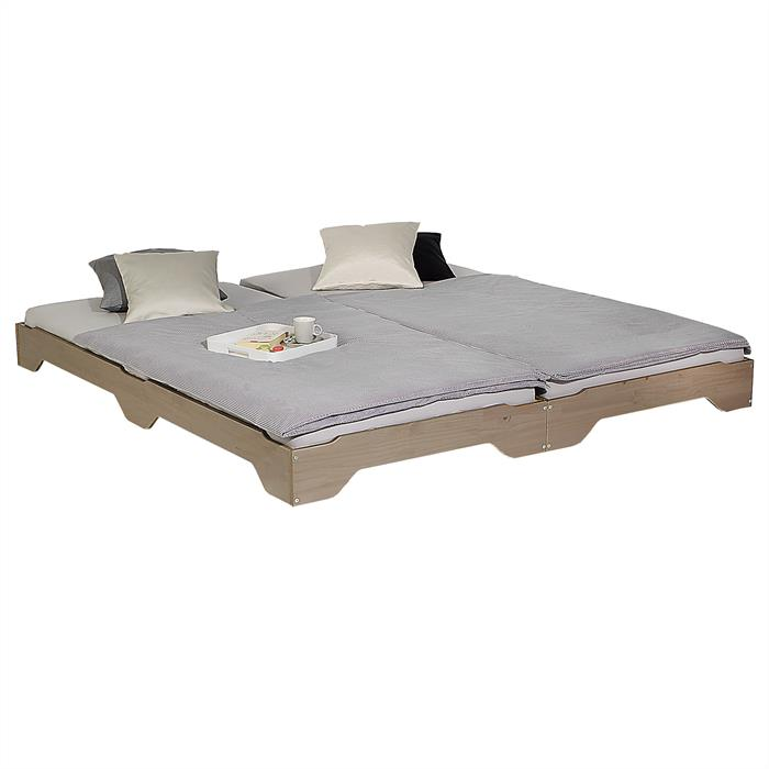 2er Stapelbett in taupe