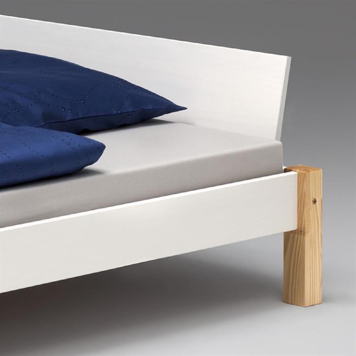 Doppelbett VALENTIN, 140x200 in weiß/natur