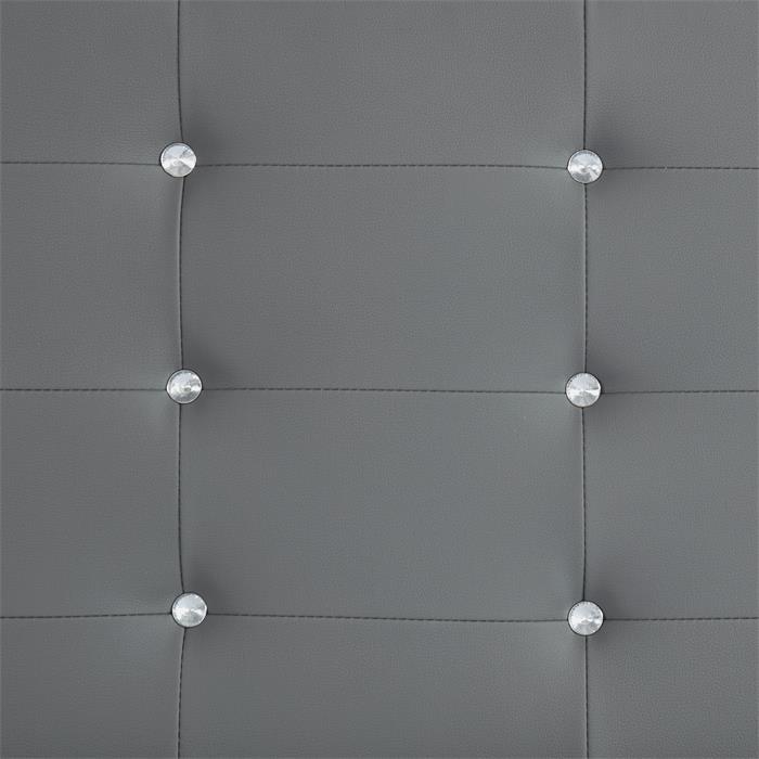 Polsterbett GLASGOW 90 x 200 cm, inkl. Lattenrost in grau