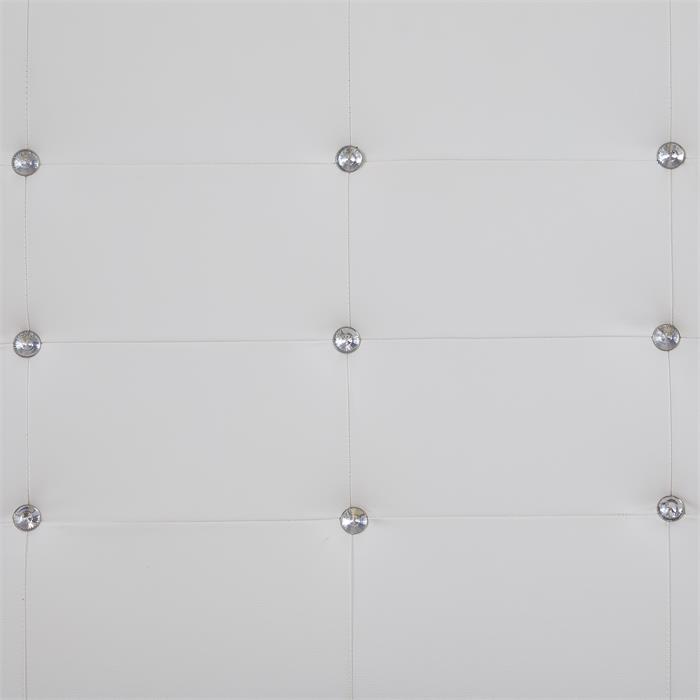 Polsterbett GLASGOW 90 x 200 cm, inkl. Lattenrost in weiß