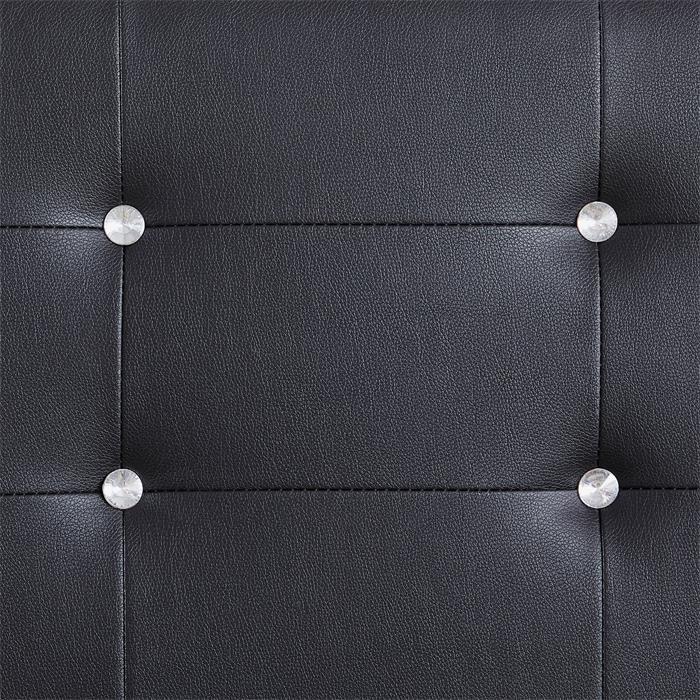 Polsterbett KINGSTON schwarz 140 x 200 cm, inkl. Lattenrost