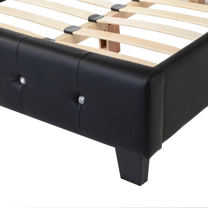 Polsterbett GINA in schwarz, 120x200 cm