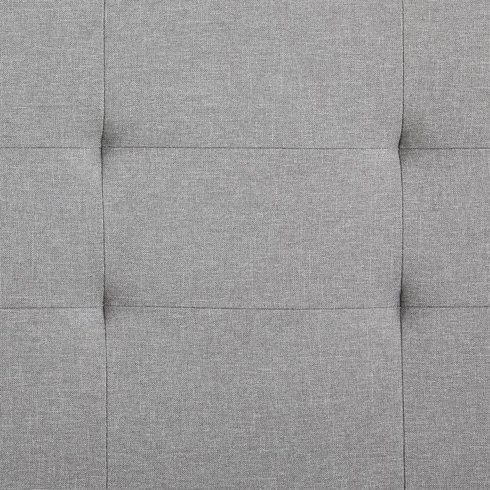 Polsterbett IOWA 140 x 200 cm, inkl. Lattenrost, grau