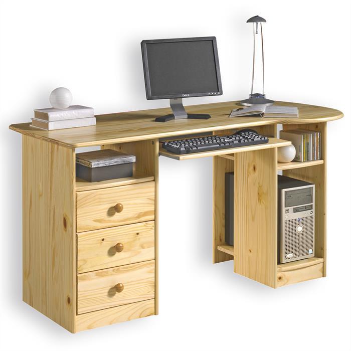PC-Schreibtisch, Kiefer massiv in natur