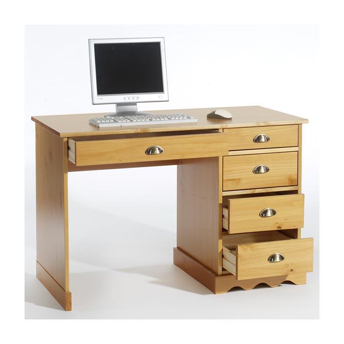 Schreibtisch, Kiefer massiv, honigfarben