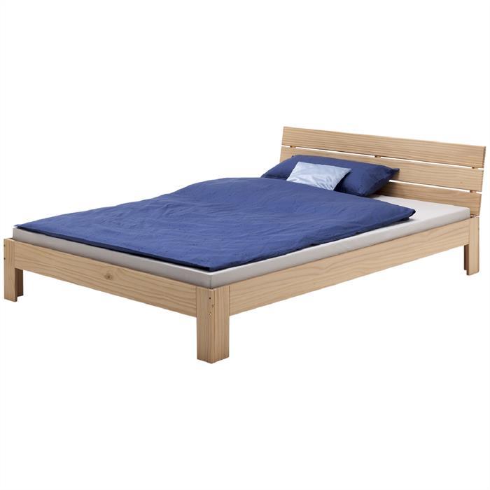 Doppelbett, 140 x 200 cm in buchefarben