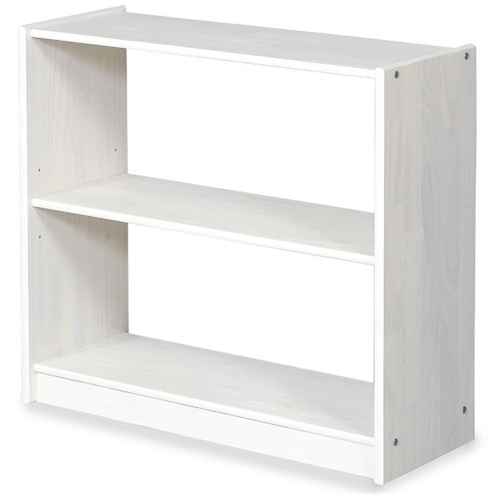 Bücherregal mit 3 Böden in weiß lackiert