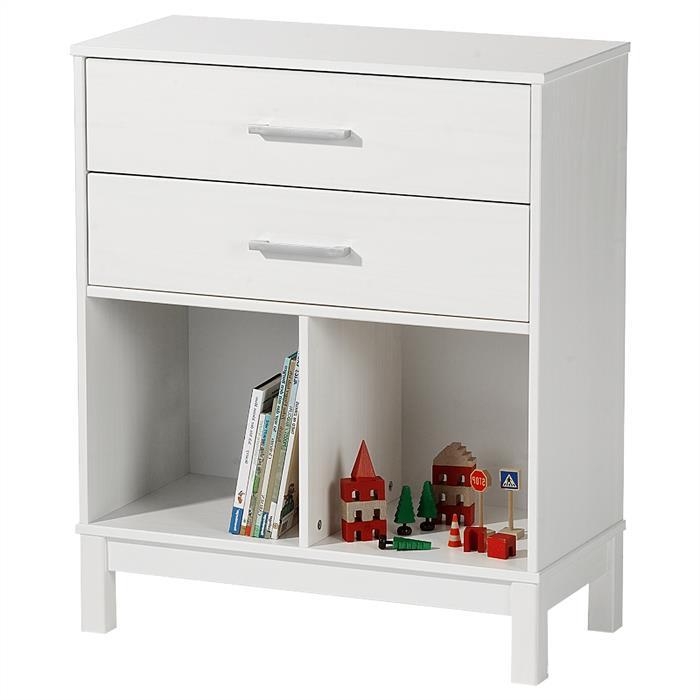 Standregal HUGO mit 2 Schubladen in weiß