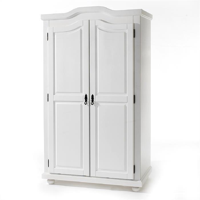 Kleiderschrank aus Kiefer in weiß lackiert